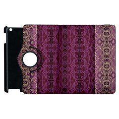 Beautiful Decorative Creative Purple Seamless Design By Kiekie Stricklnd Apple Ipad 2 Flip 360 Case