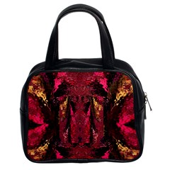 Gorgeous Burgundy Native Watercolors By Kiekie Strickland Classic Handbags (2 Sides) by flipstylezdes