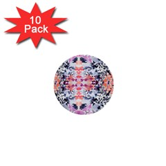 Elegant Japanese Inspired Floral Pattern  1  Mini Buttons (10 Pack)