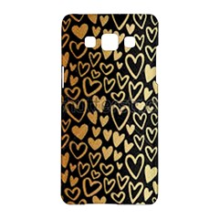 Cluster Of Tiny Gold Hearts Seamless Vector Design By Flipstylez Designs Samsung Galaxy A5 Hardshell Case