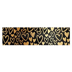 Cluster Of Tiny Gold Hearts Seamless Vector Design By Flipstylez Designs Satin Scarf (oblong) by flipstylezdes
