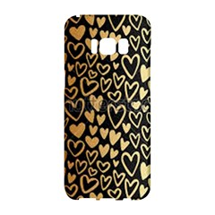Cluster Of Tiny Gold Hearts Seamless Vector Design By Flipstylez Designs Samsung Galaxy S8 Hardshell Case  by flipstylezdes