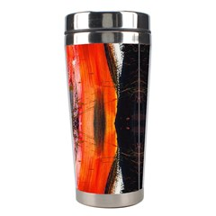 Retro Native Orange Graffiti By Kiekie Strickland Stainless Steel Travel Tumblers