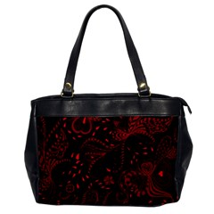 Seamless Dark Burgundy Red Seamless Tiny Florals Office Handbags