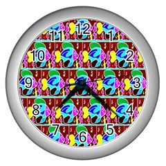 1 Wall Clocks (silver)  by ArtworkByPatrick1