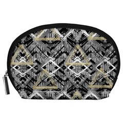 Retro Black And White Gold Design By Kiekiestrickland Accessory Pouches (large)