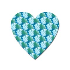 Palm Trees Tropical Beach Coastal Summer Style Small Print Heart Magnet by CrypticFragmentsColors