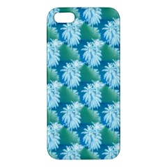 Palm Trees Tropical Beach Coastal Summer Style Small Print Iphone 5s/ Se Premium Hardshell Case by CrypticFragmentsColors
