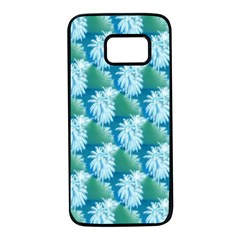 Palm Trees Tropical Beach Coastal Summer Style Small Print Samsung Galaxy S7 Black Seamless Case by CrypticFragmentsColors