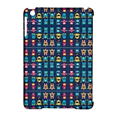 Funny Monsters In Blue Background Apple Ipad Mini Hardshell Case (compatible With Smart Cover) by flipstylezdes