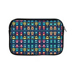 Funny Monsters In Blue Background Apple Ipad Mini Zipper Cases by flipstylezdes