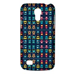 Funny Monsters In Blue Background Samsung Galaxy S4 Mini (gt I9190) Hardshell Case  by flipstylezdes