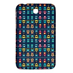 Funny Monsters In Blue Background Samsung Galaxy Tab 3 (7 ) P3200 Hardshell Case  by flipstylezdes