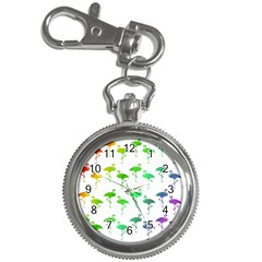 Flamingo Pattern Rainbow Colors Key Chain Watches by CrypticFragmentsColors