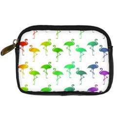 Flamingo Pattern Rainbow Colors Digital Camera Cases by CrypticFragmentsColors