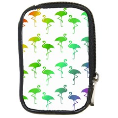 Flamingo Pattern Rainbow Colors Compact Camera Cases by CrypticFragmentsColors