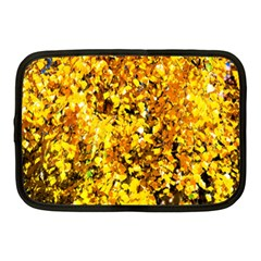 Birch Tree Yellow Leaves Netbook Case (medium)  by FunnyCow