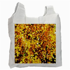 Birch Tree Yellow Leaves Recycle Bag (one Side) by FunnyCow