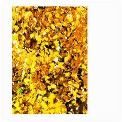 Birch Tree Yellow Leaves Large Garden Flag (two Sides) by FunnyCow