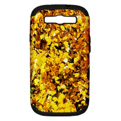 Birch Tree Yellow Leaves Samsung Galaxy S Iii Hardshell Case (pc+silicone) by FunnyCow