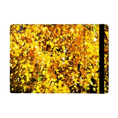 Birch Tree Yellow Leaves Apple Ipad Mini Flip Case by FunnyCow