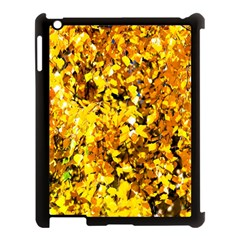 Birch Tree Yellow Leaves Apple Ipad 3/4 Case (black) by FunnyCow