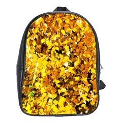 Birch Tree Yellow Leaves School Bag (xl) by FunnyCow