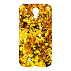 Birch Tree Yellow Leaves Samsung Galaxy S4 I9500/i9505 Hardshell Case by FunnyCow