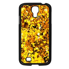 Birch Tree Yellow Leaves Samsung Galaxy S4 I9500/ I9505 Case (black) by FunnyCow