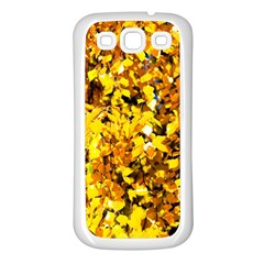 Birch Tree Yellow Leaves Samsung Galaxy S3 Back Case (white) by FunnyCow