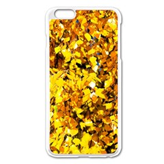 Birch Tree Yellow Leaves Apple Iphone 6 Plus/6s Plus Enamel White Case by FunnyCow