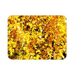 Birch Tree Yellow Leaves Double Sided Flano Blanket (mini)  by FunnyCow