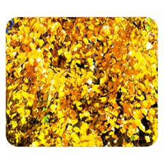 Birch Tree Yellow Leaves Double Sided Flano Blanket (small)  by FunnyCow