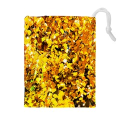 Birch Tree Yellow Leaves Drawstring Pouches (extra Large) by FunnyCow