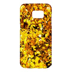 Birch Tree Yellow Leaves Samsung Galaxy S7 Edge Hardshell Case by FunnyCow