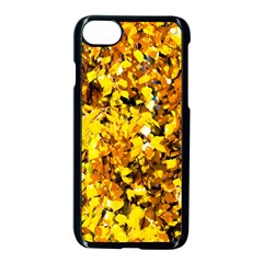 Birch Tree Yellow Leaves Apple Iphone 7 Seamless Case (black) by FunnyCow