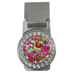 Colorful Petunia Flowers Money Clips (cz)  by FunnyCow