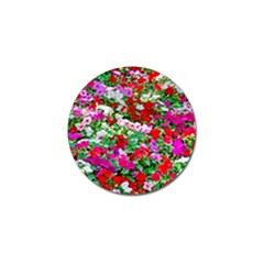 Colorful Petunia Flowers Golf Ball Marker (4 Pack) by FunnyCow