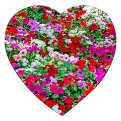 Colorful Petunia Flowers Jigsaw Puzzle (heart) by FunnyCow