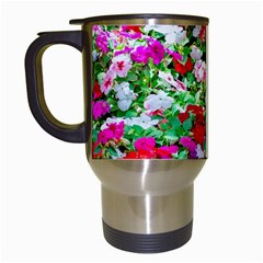 Colorful Petunia Flowers Travel Mugs (white) by FunnyCow