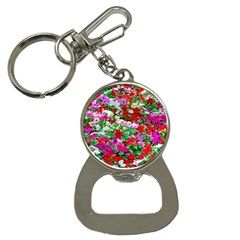 Colorful Petunia Flowers Bottle Opener Key Chains by FunnyCow