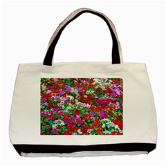 Colorful Petunia Flowers Basic Tote Bag (two Sides) by FunnyCow