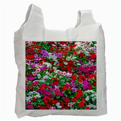 Colorful Petunia Flowers Recycle Bag (one Side) by FunnyCow