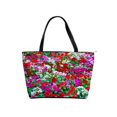 Colorful Petunia Flowers Shoulder Handbags by FunnyCow