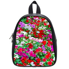 Colorful Petunia Flowers School Bag (small) by FunnyCow