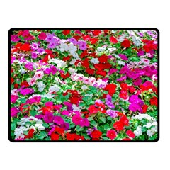Colorful Petunia Flowers Fleece Blanket (small) by FunnyCow