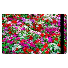 Colorful Petunia Flowers Apple Ipad 3/4 Flip Case by FunnyCow