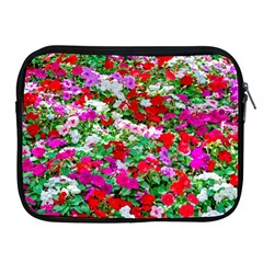 Colorful Petunia Flowers Apple Ipad 2/3/4 Zipper Cases by FunnyCow