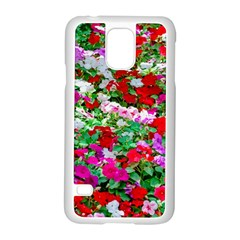 Colorful Petunia Flowers Samsung Galaxy S5 Case (white) by FunnyCow