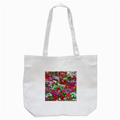Colorful Petunia Flowers Tote Bag (white) by FunnyCow